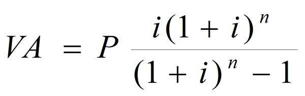 formula para calcular cuota préstamo